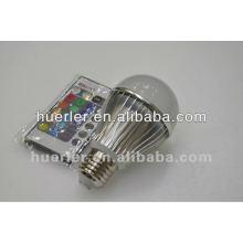 E27 changement de couleur haute puissance 5w rgb led bulbe