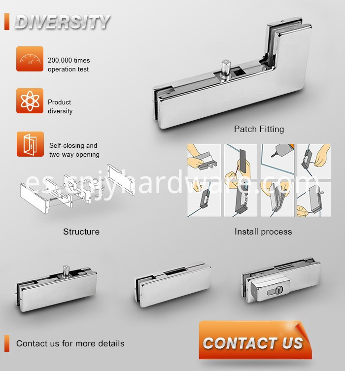 Glass Fitting Hardware For Glass Door