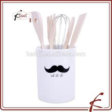 Porte-ustensiles en céramique design en moustache