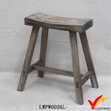 Rustic Old Shabby French Chic Wood Farmhouse Kitchen Stool
