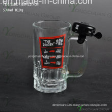 500ml Glass Beer Cup with Bell Nice Shape