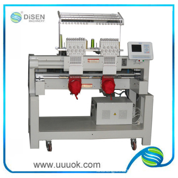 Two Heads Cap Computer Embroidery Machine