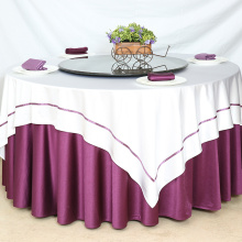 Round glaze fabric restaurant hotel tablecloth