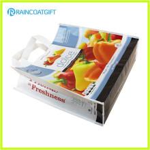 Повторяющийся печати продуктовые промо-Прокатанные PP Non Сплетенный мешок РГБ-019