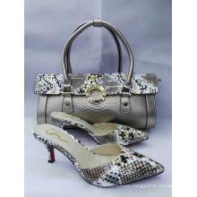 New Design High Heel Slipper and Snake Pattern Bags (G-21)