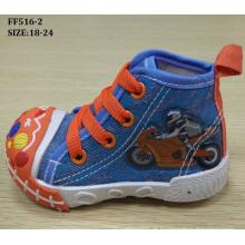 Mais recente adorável injeção sapatos sapatas de lona do bebê sapatos infantis (ff516-2)