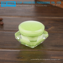 YJ-V15 15g glatte harte Kunststoff gute Hand Gefühl Acryl Material grüne Diamant Glas