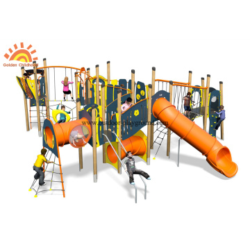 HPL Outdoor Multiplique Escalada Slide Inclinado Net Park
