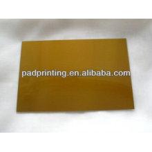 Plaque imprimée personnalisée de polymère à l'estampe à chaud avec acier passe à vendre