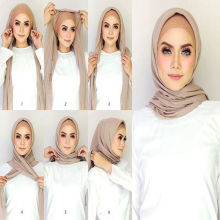 2017 fashion solid color women plain bubble chiffon muslim hijab scarf dubai wholesale