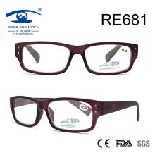 Популярные дизайнерские винные фиолетовые очки для чтения (RE681)