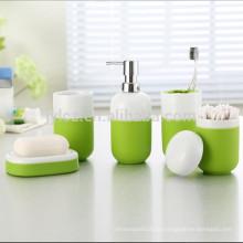 Keramik-Bad-Zubehör-Set mit Silikonhülle für einfachen Halt