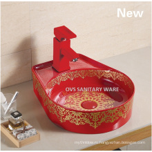Новый ручная роспись керамическая раковина