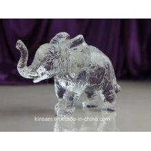Cristal Animal Modelo Crystal Elephant Craft para Presente