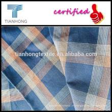 100 % Baumwollgarn gefärbt Stoff / Stoff/das neueste Design-Stoffe braun kariertes Hemd blau