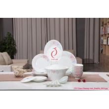 Placa de comensal cerâmica branca, Placa de cerâmica embebida Placa feita em Jingdezhen