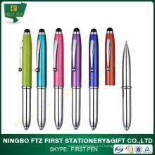 Первый Y097 2014 Самый популярный алюминиевый светодиодный стилус 3 в 1 ручке