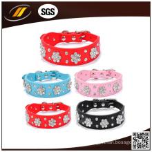 Soft Leather Pet Dog Collar (HJ7001)