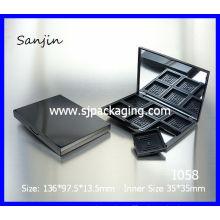 6 colores sombreador de ojos sombreador de ojos contenedor cosméticos contenedor cosmético empaquetado