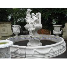 Fonte de jardim de pedra com fonte de mármore (SY-F162)