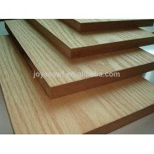 Placa de MDF natural folheada, placa laminada para mobiliário decorativo, rodapé mdf