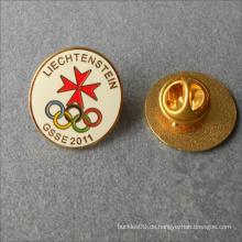 Benutzerdefinierte Form Runde Metall harten Emaille Abzeichen Kragen Pin