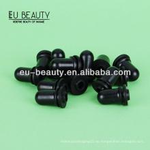Schwarze Silikon-Zitze für ätherische Ölflaschen