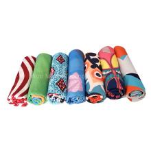 Fast Drying Fashion Stripe Beach Towel, Soft and Sand Free Travel Bath Face Towel