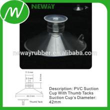 PVC Material Micro 42mm Saugnapf mit Daumenbügel