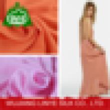 Faça a encomenda 100% creme de rayon impresso ou tecido de tingimento para o vestido