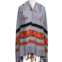 Fashion luxury jacquard pashmina shawl for women winter scarf