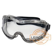 Goggle tático filtrar 99,9% de radiação ultravioleta e evitar respingos de líquidos químicos.