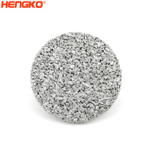 Fast flow rate  sintered porous stainless steel metal powder wire mesh 316L  filter disc  for air liquid solid filtration