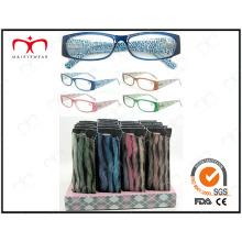 Gafas de lectura para damas con disply venta de moda y caliente (MRP21679)