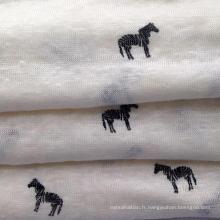Tissu en lin tricoté en lin (QF15-2382)
