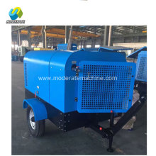 58kw partable type diesel screw air compressor