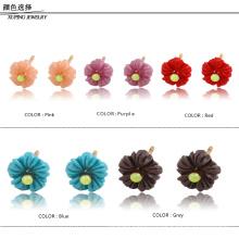 91787- Xuping promocional 18k joyería linda flor pendientes al por mayor para chicas lindas