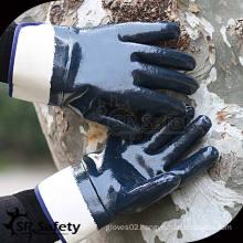 Heavy Duty, Wide Cuff, Open-Back Nitrile Coated Work Gloves/Oil resistant gloves