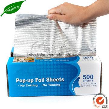 Food Wrapping Foil Airline Foil Pop-up Individual Aluminum Foil Sheet