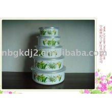 5шт эмалированную посуду набор