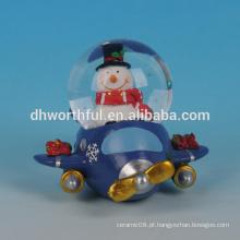 Globo da água do Natal da alta qualidade, presente do globo da água da resina para a decoração 2016 do Natal
