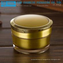 YJ-S50 50g volume padrão da alta qualidade do atarraxamento rodada todos os recipientes de líquido acrílico plástico prego