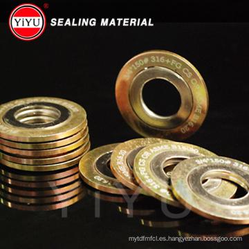 Producción de la fábrica de la energía, auto-comercialización Junta de la herida del espiral + grafito, junta del anillo del metal Junta de la bobina Alta calidad