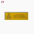 Custom waterproof ABS material traffolyte label
