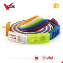 Rubber silicone colorful sports belts