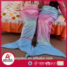 new designer gradient ramp mermaid tail blanket for adults