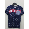 Men's Fashion Cotton Short Floral  Sleeve T-Shirt