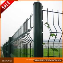 Verde oscuro 3 pliegues valla de malla de alambre soldado