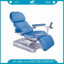 AG-XD101 Linak motor engineer base de plástico silla de cama de donación de sangre