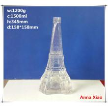 Effile Tower Shape 1500ml Glass Wine Bottles